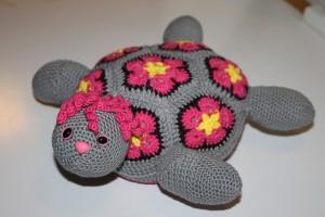 hæklet bamse skildpadde