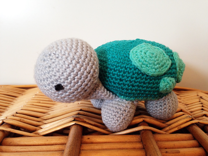 Hæklet skildpadde opskrift