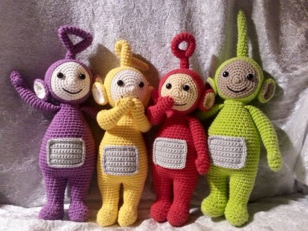 Hæklede Teletubbies