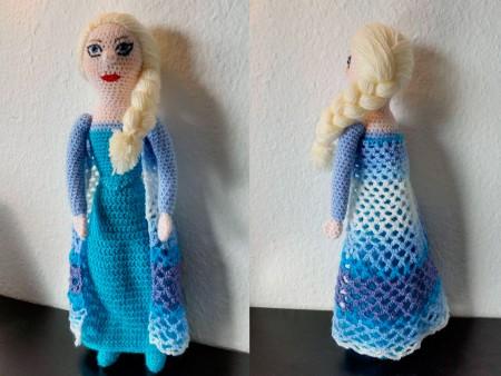 Hæklet Elsa dukke fra Frost/Frozen