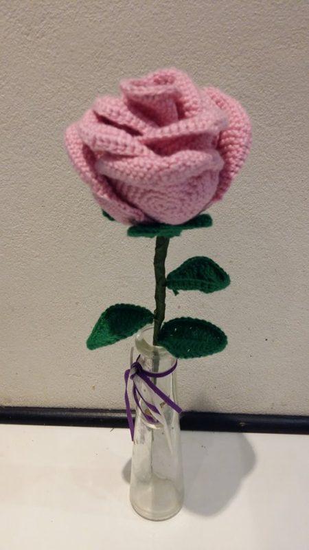 Hæklet rose
